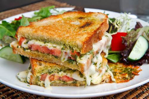 """Caprese Grilled Cheese Sandwich""""What better way is there to enjoy perfectly ripe..."""