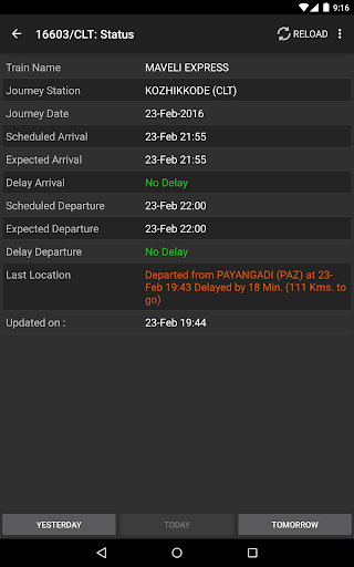Indian Railway Train Status for PC