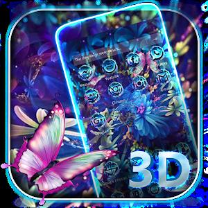 Download Purple Neon Butterfly 3D Theme for PC3d Neon Butterflies