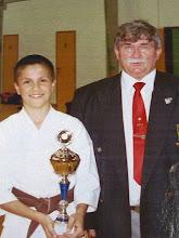 Photo: Arnaud est champion de Belgique en kata. Nous sommes en 2000 ....