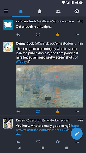 Tusky for Mastodon screenshot 1