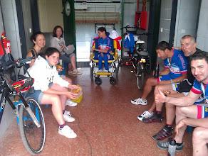 Photo: Comida en el polideportivo de Sahagún, nuestro alojamiento.