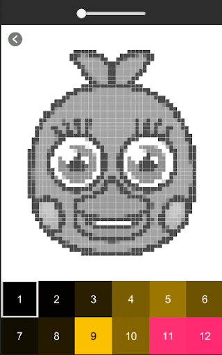 Pixel art Coloring by numbers for Fnaf for PC