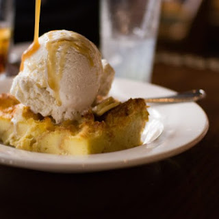Bread Pudding with Banana Foster Sauce