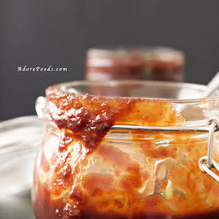 Easy Homemade Bourbon Barbecue Sauce.