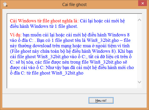 Download Easy Ghost - Phần mềm ghost windows dễ dàng