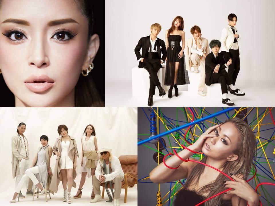 TRF 、 濱崎步 、 倖田來未 、 AAA 演唱會影像期間限定免費公開大放送!