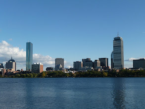 Photo: View from Harvard back to Boston.