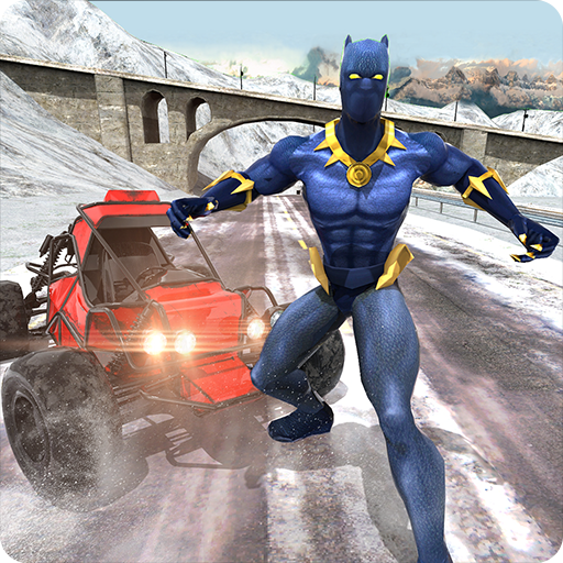 Superhero Buggy Car: Winter Sports Risky Road Race