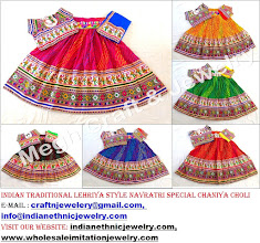 Photo: LEHERIYA STYLE LEHENGA CHOLI-APPROX SIZE:Height of Skirt (chaniya) -40''inch/Skirt flared size (width )-140''inch/The skirt has both sided (front & back) embroidery work./Size of Blouse : Regular (free size)