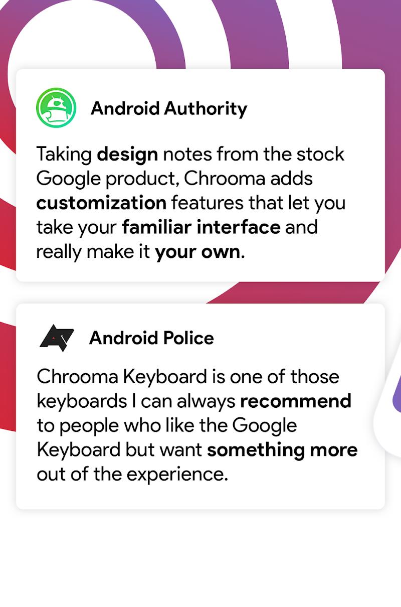 Chrooma - Chameleon Keyboard Screenshot 0