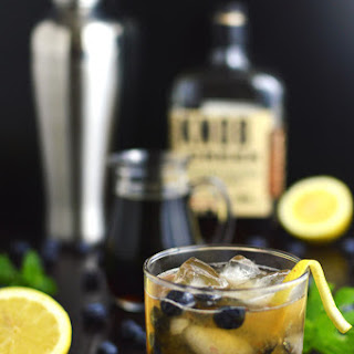 Blueberry Basil Bourbon Smash