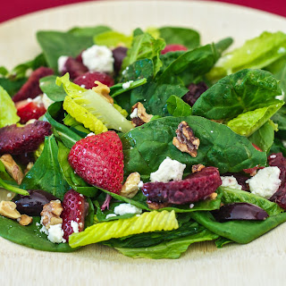 Spring Greens and Fruits Salad