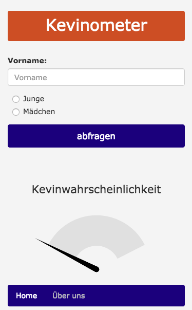 Kevinometer- screenshot