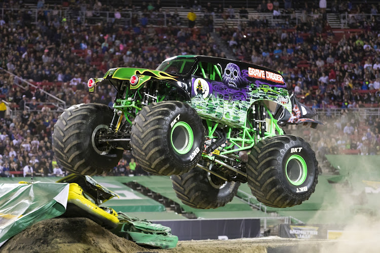 'Grave Digger' hitting some air