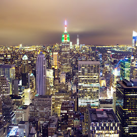 by Prottay Adhikari - Buildings & Architecture Office Buildings & Hotels ( top of the rock, city lights, new york, nyc, city at night )