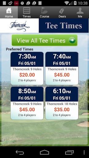 Thorncreek Golf Tee Times