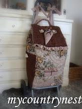 Photo: trolley realizzato con stoffa da arredamento