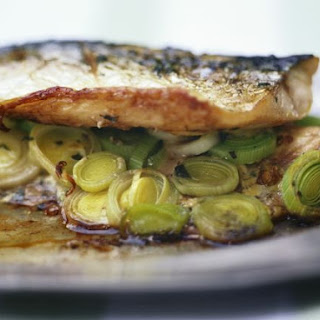 Mackerel Fillets with Leek