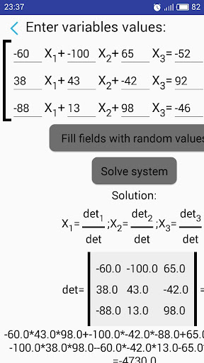 System of equations Solver screenshot 3