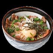 Teriyaki Sliced Steak Donburi with Soft Boiled Egg