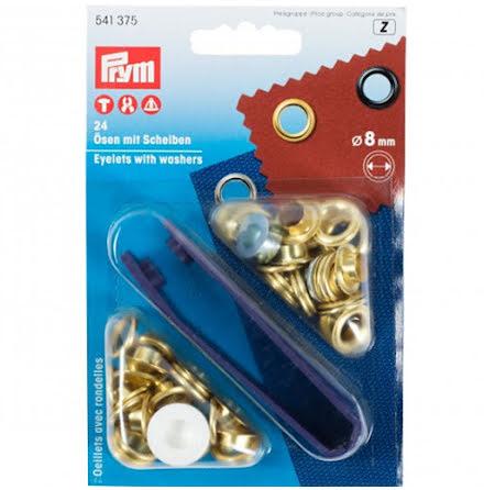 Öljetter 8mm - flera färger