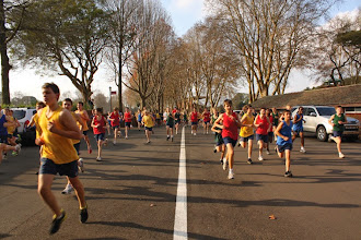 Photo: Inter-house cross-country in Founders Avenue