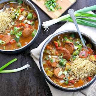 Coconut Curried Sausage & Veggie Gumbo