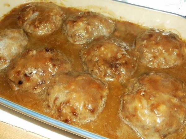 Bake at 350ºF for 30 minutes. Serve hot. (Serve with mashed potatoes, noodles or...