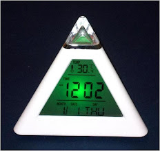 Photo: Triangle Colour Changing Clock(DC-20)