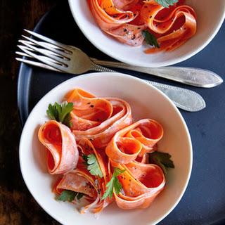Carrot Ribbon Salad with Lavender-Ricotta Dressing