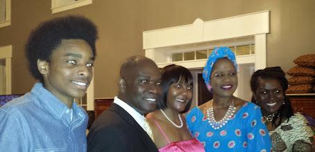 Photo: Miles, Kwame Ahima, Ndilka Mandela, Dr. Chihombori, and Justine Ahima. My camera messed up everyone's eyes.