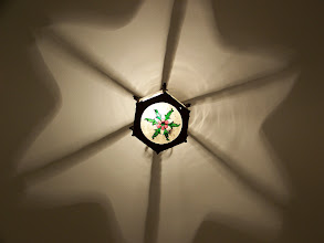 Photo: A ceiling lamp in our apartment.