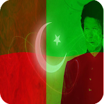 PTI Flag Face Sticker and Photo editor for Members Icon