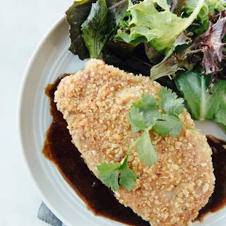 Pork Schnitzel with Crispy Rice Coating