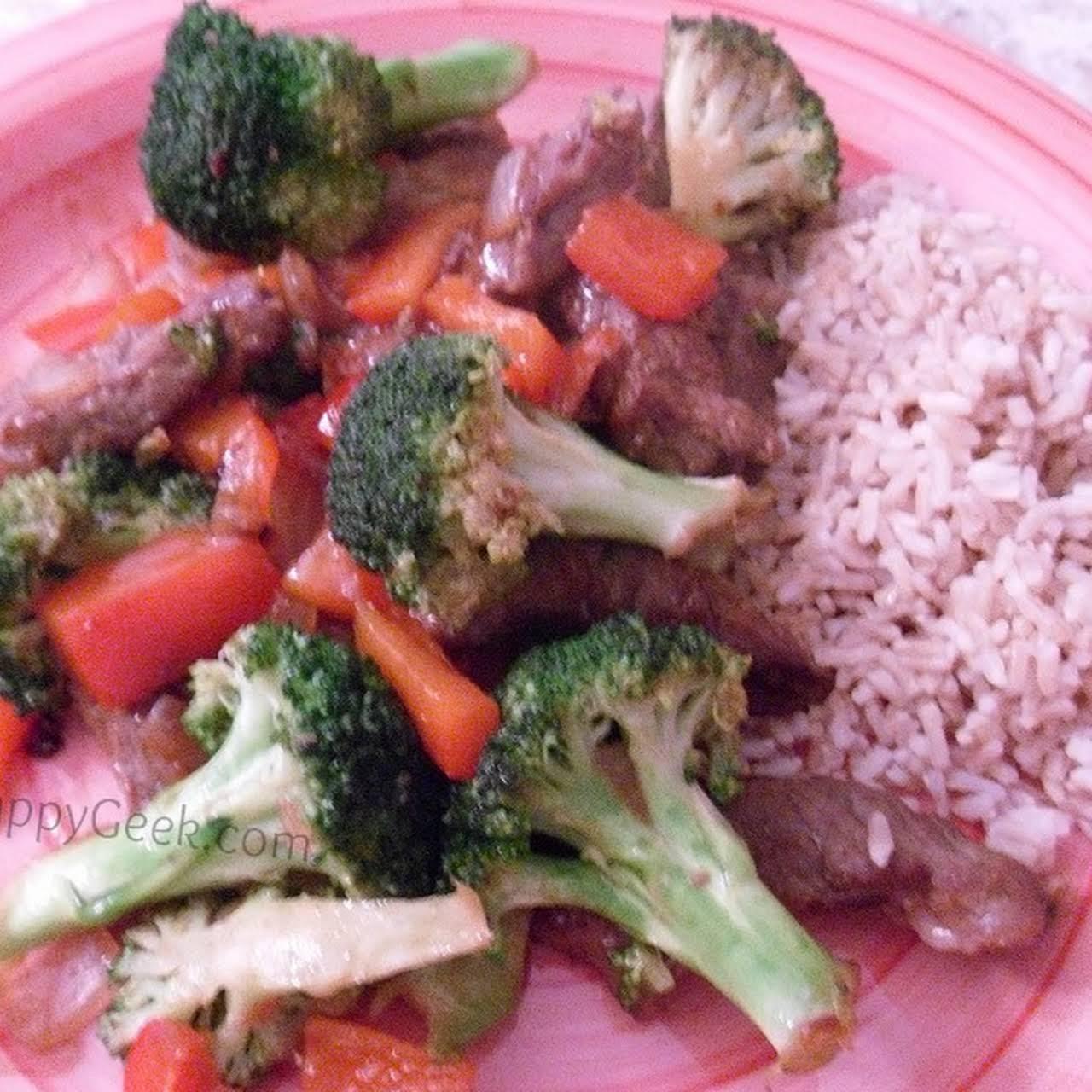 Beef and Veggie Stir-Fry Recipe -  numb 500 Calories!