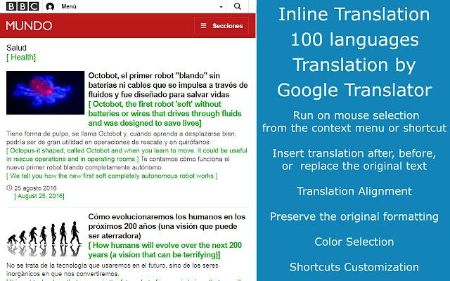 ImTranslator: Translator, Dictionary, TTS chrome extension