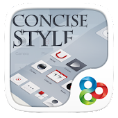 Concise Style GOLauncher Theme