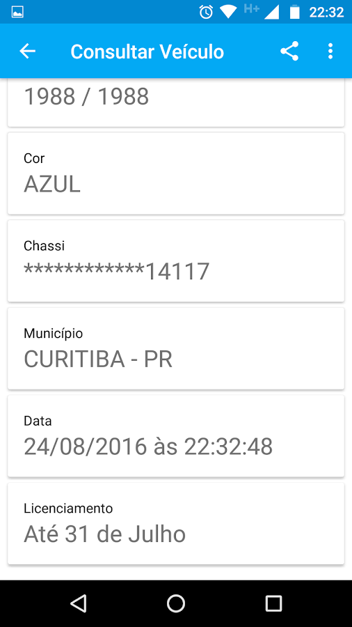 Consulta Placa e Tabela FIPE- screenshot