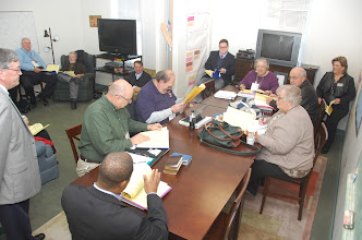 Photo: Regional Board meeting prior to the Assembly.