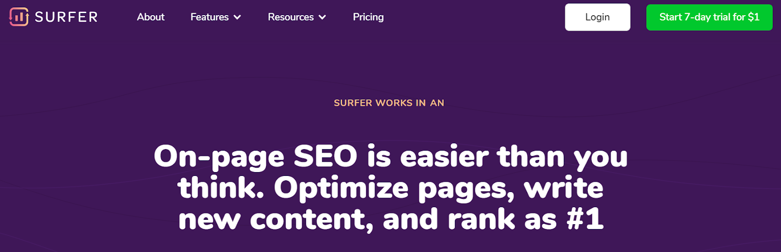 Surfer content optimization tool