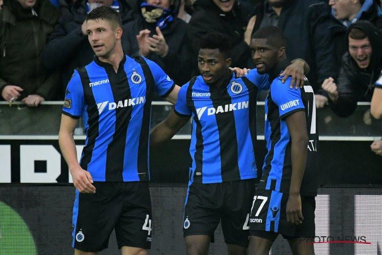 Un retour dans la sélection du Club de Bruges, mais plusieurs blessés