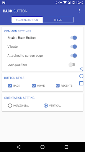 Back Button 2.0.3 screenshots 1