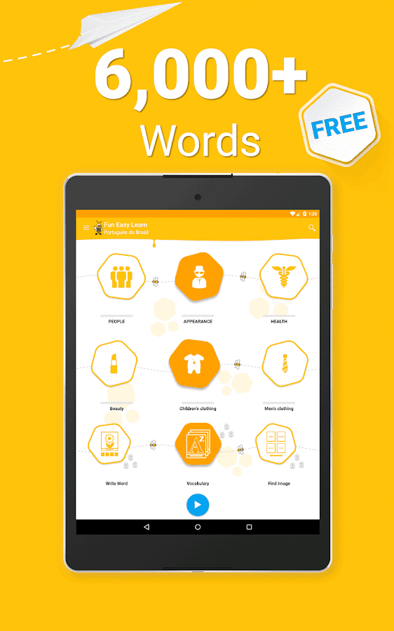 Learn Brazilian Portuguese Vocabulary - 6000 Words- screenshot