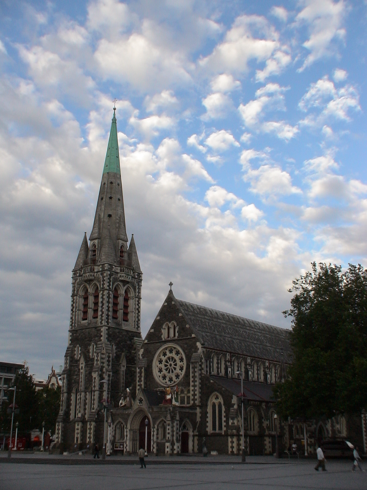 Photo: Christchurch Cathedral vor dem Erdbeben im Jan 2011