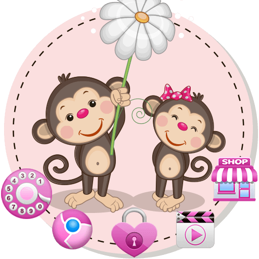 Monkey Cute Theme