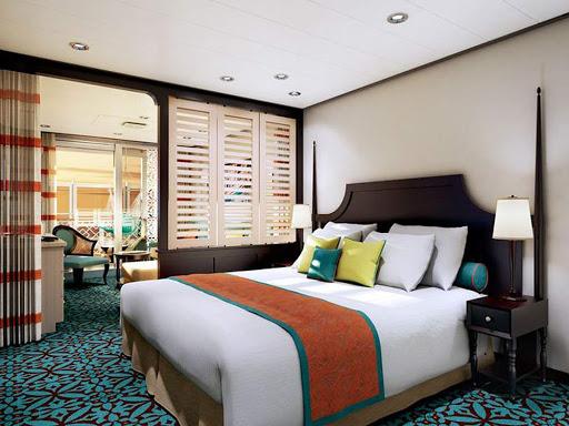 Carnival-Vista-Havana-Cabana-rendering - A Havana Cabana Suite on Carnival Vista is shown in this digital rendering.