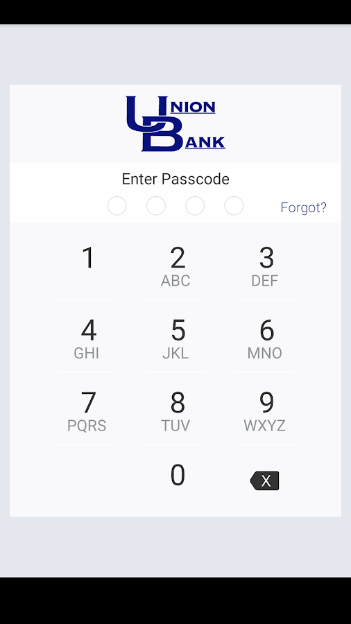 Union Bank Go App- screenshot