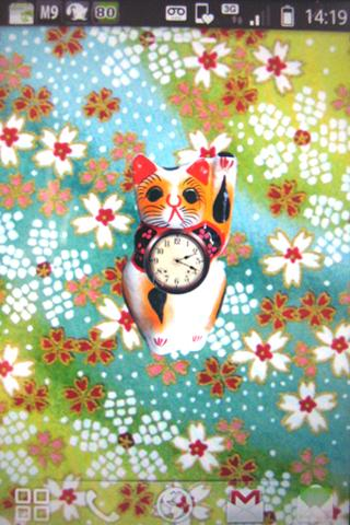 Fortune Cat Clock U0026 Wallpaper Screenshot 1 ...