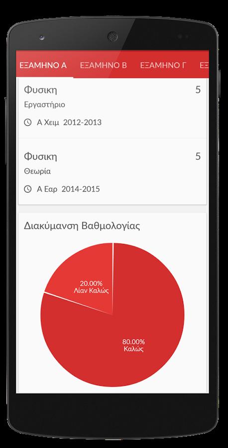 Ηλεκτρονική Γραμματεία - στιγμιότυπο οθόνης